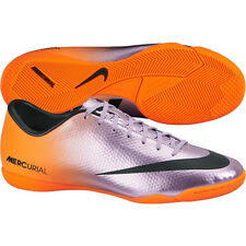 Nike Mercurial Victory IV IC Indoor Soccer SHOES 2014 Chrome  Ornge KIDS - YOUTH