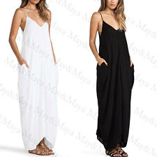 Wildbirds Women Girl Black V Neckline All In One Beach Maxi Long Dress