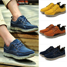 New Popular Men's Breathable Mesh Rubber Sole Lace Up Casual Shoes Boat Shoes