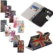 Patterned Leather Flip Credit Card Hold Wallet Pouch Hard Skin Stand Case Cover
