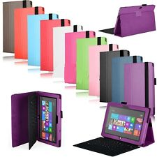 """Leather Folio Cover Stand Case For Microsoft Surface RT/2/PRO 10.6""""Tablet+Gifts"""