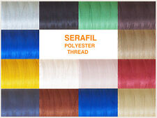 SERAFIL 10 POLYESTER THREAD IDEAL FOR LEATHER WORK & DECORATIVE VARIOUS COLOURS