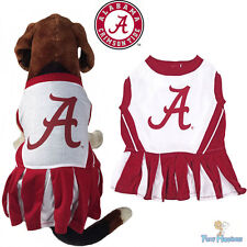 NCAA Pet Fan Gear ALABAMA CRIMSON TIDE Cheerleader Outfit Dress for Dog Dogs