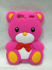 New 3D Teddy lucky Bear cute lovely Silicone Soft Case Cover For MOBILE PHONES