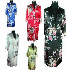 10 colour Peacock bath robe silk /satin kimono gown robe dressing .one size