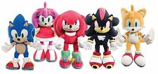 "NEW OFFICIAL 14"" SONIC THE HEDGEHOG TAILS KNUCKLES AMY SHADOW PLUSH SOFT TOYS"