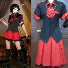 BLOOD-C Saya Cosplay Costume Black Shirt+Red Skirt Fashion Sexy Full Set Uniform
