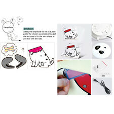 woo Cute Night Light Wallpaper Stickers Wall Lamp Kid Bedroom Cartoon Home Decor