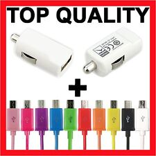 USB Car Charger + Micro USB Cable for Samsung Galaxy S6 Edge S4 S3 Mini Note 2 4
