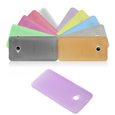 0.3mm Slim Thin Clear Translucence Matte Back Case Cover Skin for HTC ONE M7