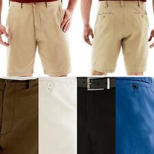 New Mens Big & Tall FOUNDRY Extender Waist Flat Front Casual Cotton Shorts 44-54