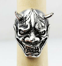 Cool Devil Skull 316L Stainless Steel Mens Warrior Style Men's Ring size 7-14