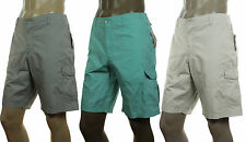 NEW MENS ALFANI SLIM FIT FLAT FRONT COTTON RIPSTOP CARGO SHORTS