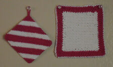 CROCHETED POT HOLDERS (STAMP OUT CHILD MOLESTATION, CANCER AND AIDS)