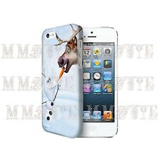 Disney Frozen Olaf Snow Man Fun Dear Gift 3D Case Cover for Iphone 4 4s 5 5s 5c
