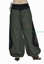 Indian Men Women Unisex Multi Color Cotton Alladin Harem Pants Stylish Pockets