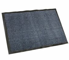 Rubber Backed Hard Wearing Door Mat - All Weather Outdoor/Indoor Non Slip Blue