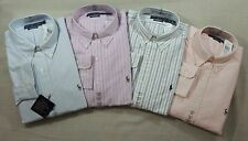Men Ralph Lauren Polo Pony Classic Oxford Striped Dress Shirt 16.5 17.5 18 36 37