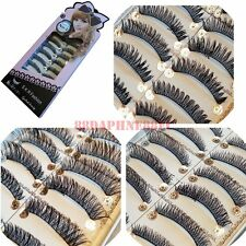 S.K.R Fashion GLAMOROUS MAKE-UP False Eyelash #102 #123 #131 10 Pairs Selection