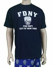 Official Men's FDNY T-Shirt : Navy Blue Fire Department New York Shirt Fireman