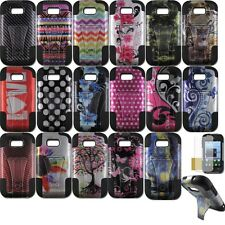 Hybrid Armor Protector Stand Cover Cell Case ZTE Savvy Z750C Awe N800 Reef N810