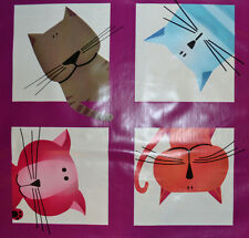 Colourful Cats Table Covering - 100% PVC - Ideal for Garments or Craft
