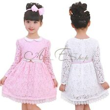 Girls Toddlers Princess Lace Formal Party Flower Wedding Birthday Pageant Dress
