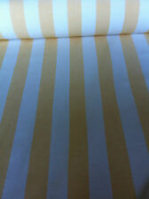 Quality heavy COTTON upholstery fabric Striped Buttercup yellow & Natural White