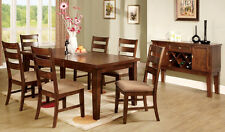 Antique Wooden Dining Table Furniture Dining Room Set w/ 6 Side Chairs Oak color