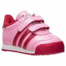 Baby Girls Shoes Adidas SAMOA Casual Shoes Toddler SizesPink/Red NWB