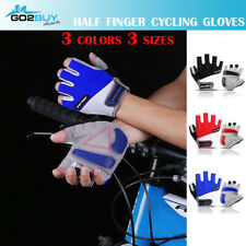 GIANT Cycling Bicycle Bike Blue Half Finger Antiskid Silicone Gel Gloves