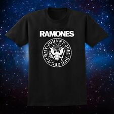Black Men T Shirt Joe RAMONES Eagle Logo Presidential Seal Punk NYC CBGB Vintage