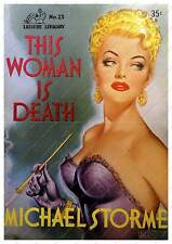 This Woman is Death : Old pulp book cover poster reproduction