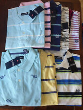 NWT Ralph Lauren Chaps Men's Polo Short Sleeve Shirts Striped Sz S M L XL 2XL