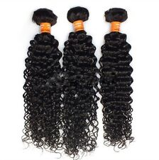 3 Bundles 100% 5A unprocessed Virgin Indian Hair Extension Weft Kinky Curly Hair