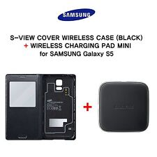 [Samsung Genuine] S-View Cover Wireless Cover + S Charging Pad for GALAXY S5