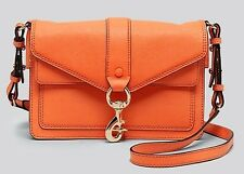 HOT! Rebecca Minkoff Crossbody Hudson Mini Moto Messenger Handbag Purse Orangina