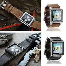 Chicago Leather Multi-Touch Wrist Strap Watch Band for iPod Nano 6th Generation