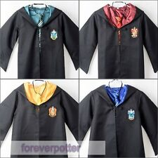 Harry Potter Gryffindor/Slytherin/Ravenclaw/Hufflepuff Cloaks Robes Kid Costumes