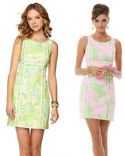NEW Lilly Pulitzer Fryer Shift Dress 00/0/2/4/6/8 $188 limeade elephant 2 prints
