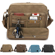 New Men's Multi-function Canvas Shoulder Briefcase Handbag Satchel Bags AB190