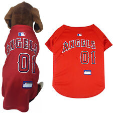 MLB Fan Gear LOS ANGELES ANGELS Dog Jersey Dog Shirt for Dogs BIG SIZE XS-2XL