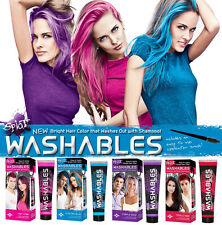 Splat Hair Color Dye Red Blue Hot Pink Purple Swag Temporary Washable washables
