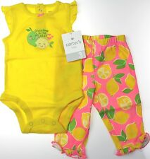 Carter's NWT Infant Girls 3M 6M 9M 2Pc Bodysuit Bottoms *GRANDMA IS THE BEST*