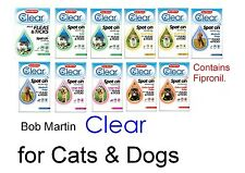 BOB MARTIN FLEA CLEAR SPOT ON FOR CATS--your FRONT LINE DEFENCE AGAINST FLEAS