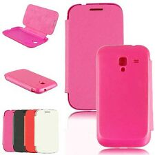 Flip PU Leather With Back Battery Cover Case For Samsung Galaxy Ace 2 i8160 New
