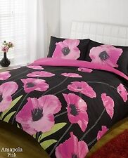 Duvet Cover Bedding Set Pink & Black Single Double King Size Super King Size