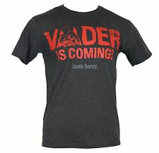 "Star Wars Mens T-Shirt - ""Vader is Coming Look Busy"" Head Image"