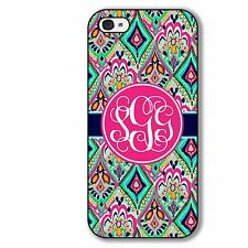 Monogrammed Case For iPhone 5 5S 5C 4 4S Pretty Floral Jewels Case Personalized