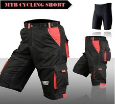 MTB Cycling Shorts,Mountain Biking,Off Rd,Detachable Padded Inner Liner Lycra
